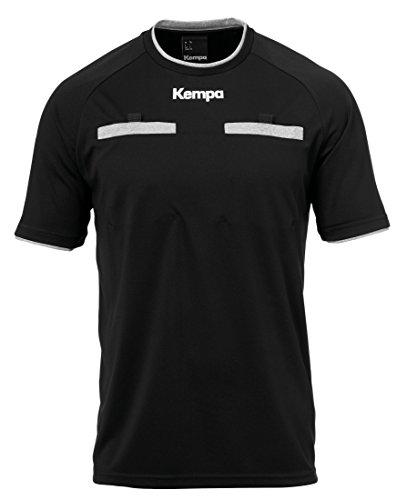 Kempa Schiedsrichter Trikot-200310101 Kinder Trikot, schwarz, 164 (Fußball Kostüm Kinder)