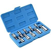 "SANDS Unidad xzn triple ranura spline enchufemétrico m4-m18 s2 acero - 10 piezas 3/8 ""1/4"" 1/2 """