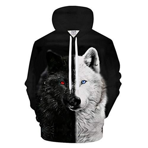 oodies Streetwear Sweatshirt Lässige Hoody Männer 3D Pullover Trainingsanzug Männlich LMS591 L ()
