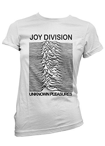T-shirt Donna Joy Division - maglietta 100% cotone LaMAGLIERIA,M, Bianco