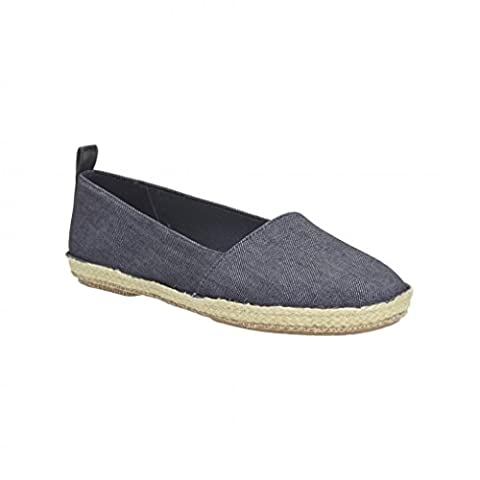 Clarks Womens Casual Clarks Clovelly Sun Textile Shoes In Denim Standard Fit Size 6