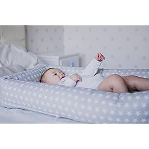 Cuco Nest reductor con base viscolatex by Mimuselina | Cama nido bebe (desenfundable y lavable) Babynest visco para colecho seguro