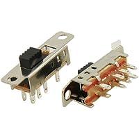 5 Pcs x SS23E04-G3 3 Position DP3T 2P3T Panel Mini Slide Switch Solder Lug PCB DIY