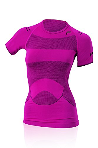 First Lady Womens Pink T-shirt (F-lite Body Megalight 140 T-Shirt Berry Woman, Black/Pink, L, 12-1079-7-3-0227)