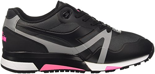 Diadora Herren N9000 Bright Protection Pumps Nero (Nero/Rosa Fluo)