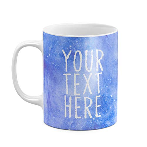 Mug à Thé ou Café Céramique Résistante à la Chaleur 325 ML, Custom Citation Text Name Space Galaxie Stars Cosmique Citation Galaxy, Personnalisée, Customisable, Initiale Prénom Et Nom De Famille