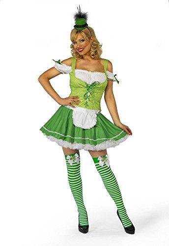 (Mix lot Sexy Fräulein Leprechaun Irish Abendkleid-Ausstattungs-Kostüm 8-10 / 12-14 / 16/18 (klein, grün))