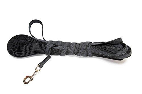 Artikelbild: Julius-K9 218GM-S15 Color & Gray gumierte Leine, 14 mm x 15 m mit Schlaufe, maximal für 30 kg Hunde, schwarz-grau