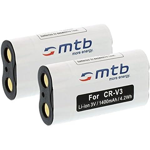 2x Batterie CRV-3 per BenQ DC 4500 // Contax