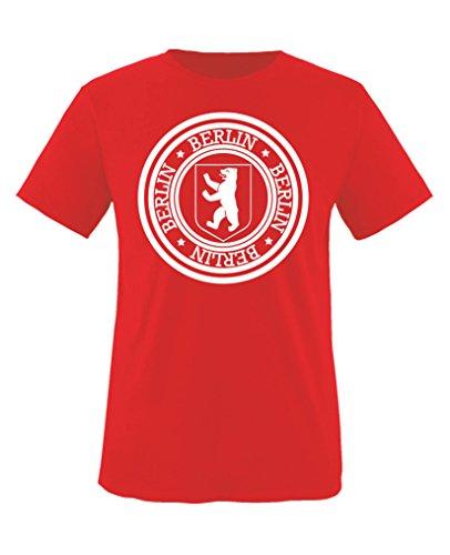 Comedy Shirts - Stadtwappen Berlin - Jungen T-Shirt - Rot / Weiss Gr. 134-146 (Jungen Rot Shirt Crewneck)