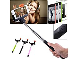 Wireless Bluetooth Shutter Extendable Handheld Selfie Stick Monopod Holder for Cell Phone Samsung iPhone5 iPhone6 DVR