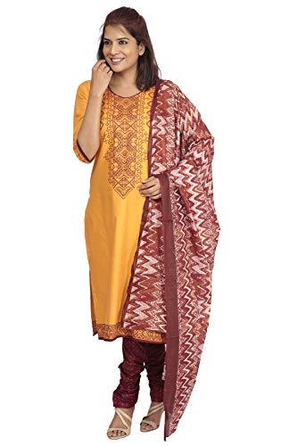 South India Shopping Mall - Hosh Women Ltorange Ikat Dress material