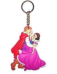 TrendsERA Disney Snow White Couple Synthetic / Rubber Keychain / Keyring / Key Ring / Key Chain