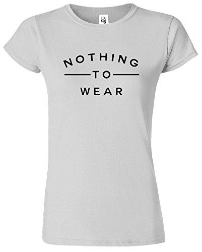 Nothing To Wear Du Nouveau Slogan élégant drôle Dames TShirt Cadeau Sport Gris / Noir Design