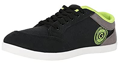 Globalite Men's Casual Shoes Stumble Black Grey Green GSC0337 UK/IN 12