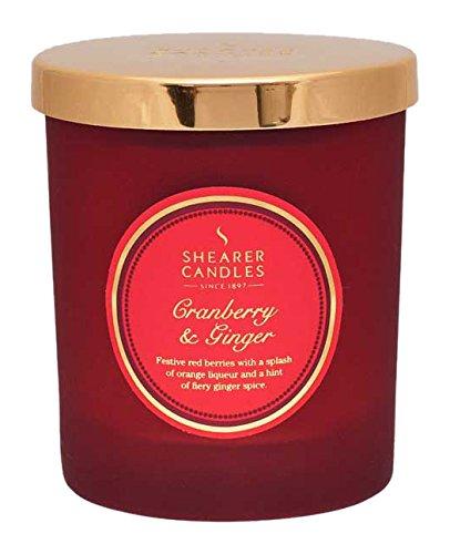 Cranberry-ingwer (Shearer Candles Cranberry und Ingwer Duftkerze Jar, mit Gold Deckel, rot)