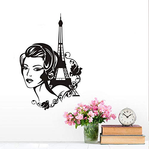 Dctop Romantische Frankreich Paris Wand Vinyl Aufkleber Turm Schöne Mädchen Wandaufkleber Steuern Dekor Design Mode Muursticker - Paris-wand-aufkleber