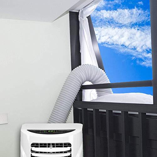 400CM Aislamiento de Ventanas para Aire Acondicionado Móvil y Secadora, Adecuado para Unidad de Aire Acondicionado Portátil, Parada de Aire Caliente - Fácil de Instalar