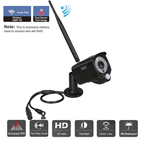 Tonton 1080P 2.0MP Wireless IP Kamera Outdoor Indoor WLAN Überwachungskamera mit PIR Bewegungsmelder Audioaufnahme Onlinezugriff Addon Kamera (NUR für 7'' inch Tonton NVR Touchscreen System)