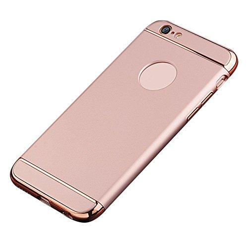 Kobwa iPhone 6s/6 Hülle, 3 in 1 Ultra Dünner Harter Anti-Kratzer Stoßfestes Elektrodengestell mit Beschichteter Oberfläche Ausgezeichneter Griff-Fall für Apple iPhone 6s/6