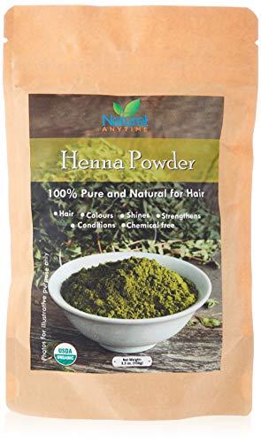 Henna polvere per capelli e corpo 100% puro, rafforza, shine, chemical free, dotato di due ricette, usda certified organic, kosher certified
