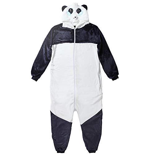 Preisvergleich Produktbild corimori 1852 Mei der Panda Damen Herren Onesie Jumpsuit Anzug Einteiler Kostüm Verkleidung Gr. 160 - 170cm,  Schwarz Weiß Blau