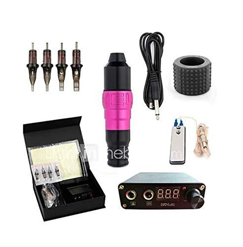 Tattoo-Maschine Professional Tattoo Kit-1 Pcs Tattoo-Maschinen, Professional/Abnehmbare/Einfach Zu Installieren Aluminium-Legierung 8 W Tattoo-Stift,Pink
