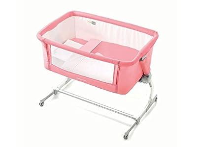 Cuna agganciabile al cama Jane 'babyside Cute Rosa y Blanco 6800T04