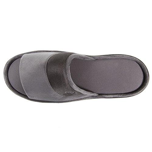 Chausson sandale homme Isotoner Gris
