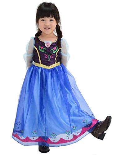 (Disney Ana et La Reine des Neiges robe à la mode Ana 100cm-110cm)