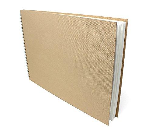 Artway Enviro - Skizzenbuch mit Spiralbindung - 100{a7aede2bf7f76d91630a17203d8d68618defee5abc5b816c7e4aa4a69e980668} Recycling-Zeichenpapier - Hardcover - 35 Blatt mit 170 g/m² - A3 Querformat
