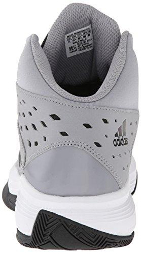 Adidas Performance Corte Fury scarpa da basket, nero / bianco / gomma, 6,5 M Us Light Grey/Black/White