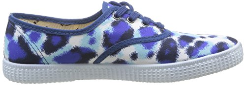 Victoria - Inglesa Estamp Huella Tigre, Sneaker Donna Blu (Blu (Azul))