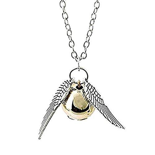 Halskette Goldene Quidditch Flügel Silber der Saga Harry Potter-Quidditch Hogwarts Gryffindor Adult Robe -