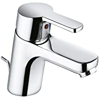Kludi Waschtisch-Einhebelmischer Logo Neo mit Garn, Rohrstutzen, geschlossenem Hebel, verchromt, 372810575