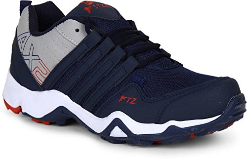 Fitze 407 Casual Running Shoes Navy and Gray
