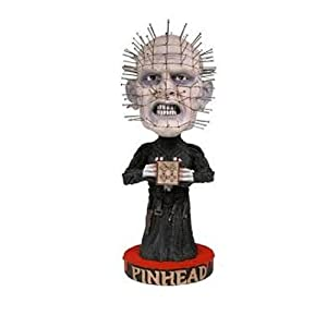Hellraiser Bobble-Head Pinhead Head Knocker 18 Cm --- Damaged Packaging