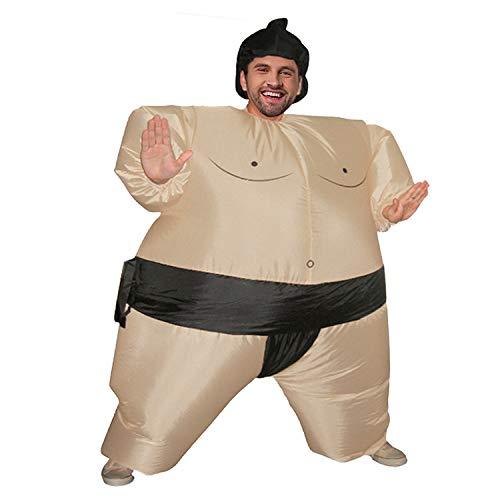 DMMASH Purim Aufblasbare Sumo-Kostüm Anzüge Wrestler Halloween-Kostüm Für Männer Frauen Erwachsene