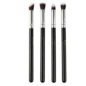 lumanuby 4 x Makeup Brush Set Professional Face Eye Shadow Eyeliner Foundation Blush Lip Makeup Brushes Powder Liquid Cream Cosmetics Blending Brush Tool