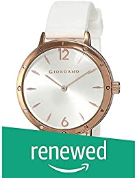 (Renewed) Giordano Analog White Dial Women's Watch-A2086-03