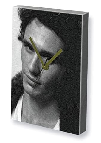 JAMES FRANCO - Canvas Clock (A4 - Signed by the Artist) #js003