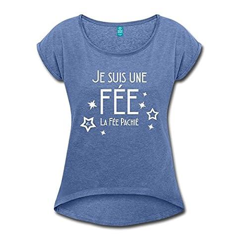 Je Suis La Fée Pachié Humour T-shirt Femme à manches