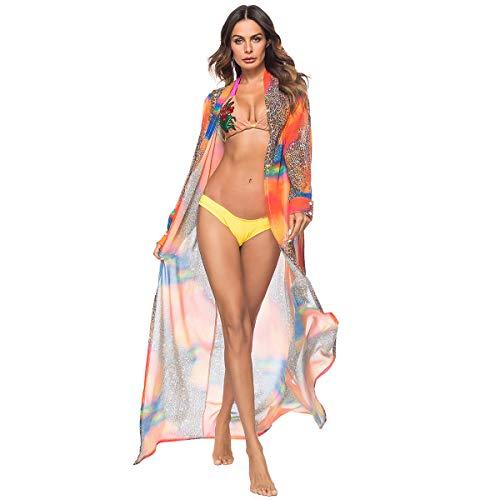 Strandkleid Damen,Strand Vertuschungen und Kaftans, Sehen Durch Womens Bikini Cover Up Bunte, sexy Kleider Beachwear Dress Bikini Badebekleidung und Reizwäsche Sexy Outfits