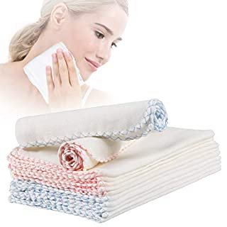 MWOOT Pack 20 Cotton Facial Cleansing Cloths, Soft Muslin Cloth Makeup Remover for Face Washing Makeup Removing Skincare
