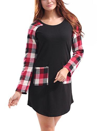 SunIfSnow Damen Schößchen Kleid, Einfarbig Gr. XXL, schwarz (Pleated Cotton Shorts)