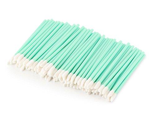 100 Unicorn Lashes - Reinigungsstäbchen für Wimpernverlängerung - Einweg Lippenpinsel, Farbe:Mint