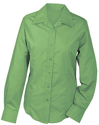 JAMES & NICHOLSON Bequemes, pflegeleichtes Langarm-Hemd und Damenbluse lime-green