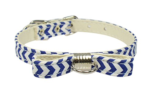 evans-colliers-collier-avec-noeud-papillon-254-cm-mini-chevron-bleu-fonce