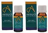 (2 Pack) - Absolute Aromas - Tea Tree Oil | 10ml | 2 PACK BUNDLE