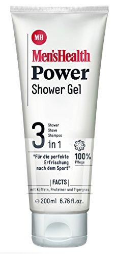 Men´s Health Power Shower Gel 3 in 1  - vegan & parabenfrei, 6er  Pack (6 x  200 ml)
